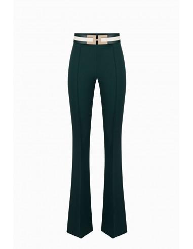 Elisabetta Franchi long trousers with belt - altamoda.shop - PA03797E2