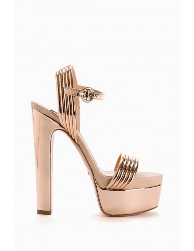 Elisabetta Franchi Laminated Platform Sandals - altamoda.shop - SA40L98E2