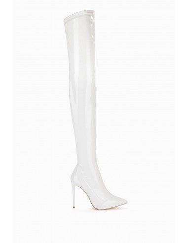 Elisabetta Franchi vinyl boots in patent leather - altamoda.shop - SA52L98E2