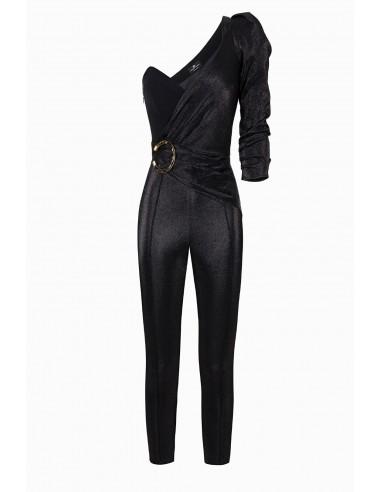 Elisabetta Franchi One-shoulder jumpsuit with narrow fit - altamoda.shop - TU20497E2