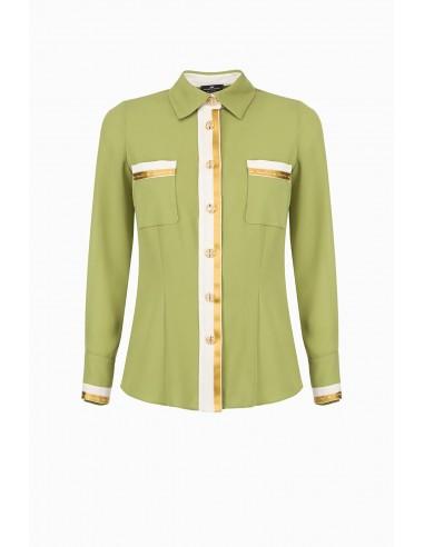 Elisabetta Franchi blouse with contrasting trimmings - altamoda.shop - CA24097E2