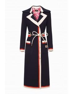 Manteau Elisabetta Franchi avec ceinture - altamoda.shop - CP02997E2
