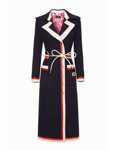 Płaszcz Elisabetta Franchi z paskiem - altamoda.shop - CP02997E2
