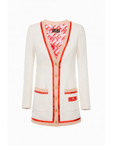 Elisabetta Franchi Long wool jacket - altamoda.shop - GI16297E2