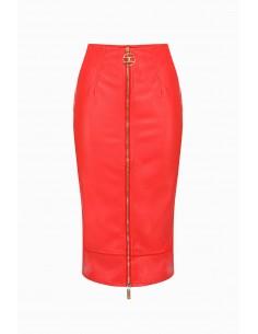 Elisabetta Franchi leatherette skirt - altamoda.shop - GO27597E2