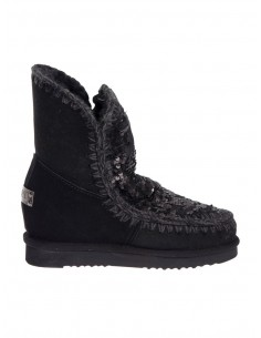 Eskimo Inner Wedge Boots Short Black - Mou