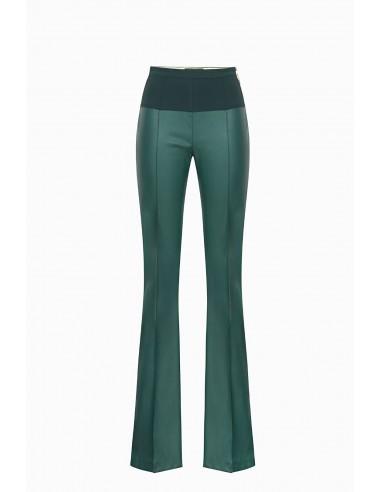 Pantalón de cuero sintético Elisabetta Franchi - altamoda.shop - PA03197E2