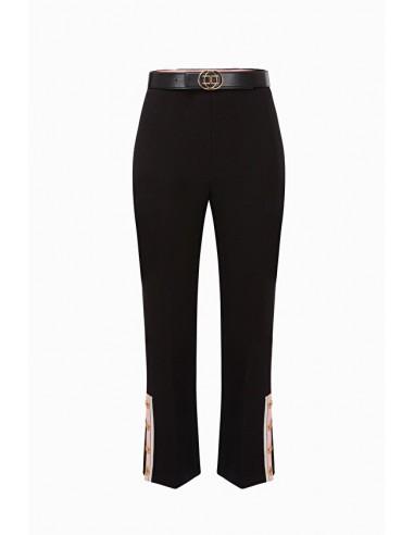 Elisabetta Franchi Capri calças com cinto - altamoda.shop - PA03397E2