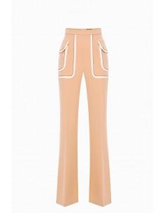 Elisabetta Franchi Palazzo trousers with pockets - altamoda.shop - PA03597E2
