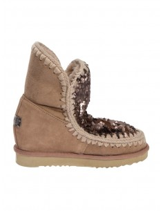 Eskimo Inner Wedge Boots short in Camel colour - Mou