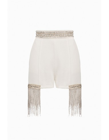 Pantalones cortos Elisabetta Franchi con piedras en las uñas - altamoda.shop - SH04098E2