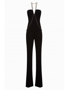 Elisabetta Franchi Sleeveless Overall com strass - altamoda.shop - TU22198E2