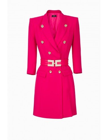 Buy Elisabetta Franchi coat dress with belt online - altamoda.shop - AB11897E2