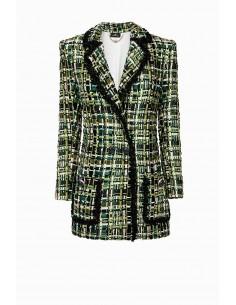 Elisabetta Franchi Besticktes kurzes Kleid Online kaufen - altamoda.shop - AR43A97E2
