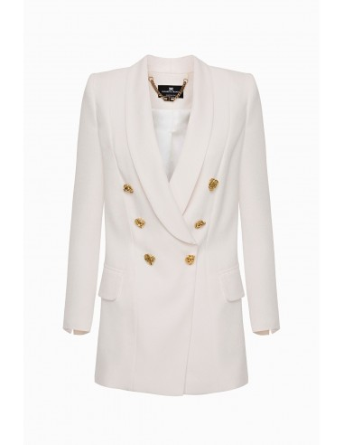 Buy Elisabetta Franchi Long Jacket with Buttons Online - altamoda.shop - GI16097E2