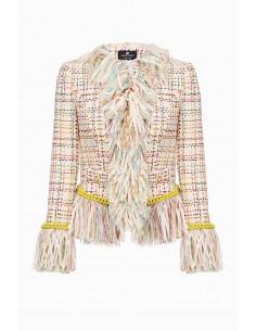 Kup kurtkę Elisabetta Franchi z grzywką online - altamoda.shop - GI91598E2