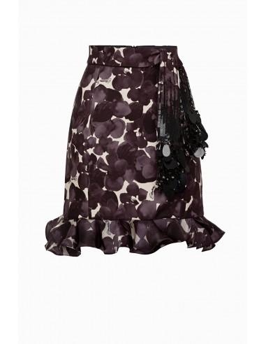 Buy Elisabetta Franchi mini skirt with belt online - altamoda.shop - GO31697E2