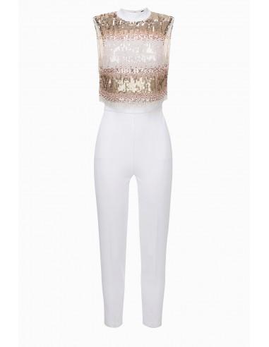 Kup Elisabetta Franchi Embroidered Jumpsuit Online - altamoda.shop - TU20397E2