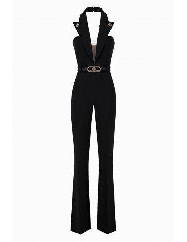 Buy Elisabetta Franchi Sleeveless Overall with Belt Online - altamoda.shop - TU21597E2