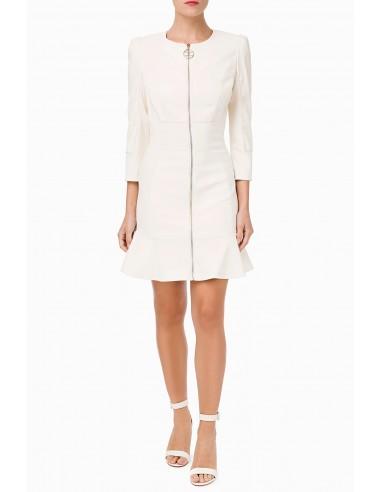 Short leatherette dress
