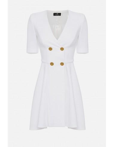 Vestido de pluma sin mangas Elisabetta Franchi con cremallera - altamoda - AB13501E2