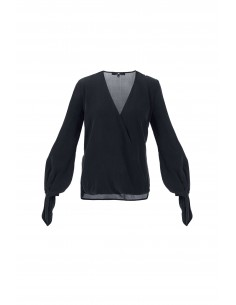 Blouse with loops in black - Elisabetta Franchi