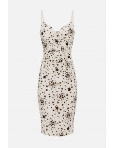 Elisabetta Franchi dress with micro star print - altamoda - AB14901E2
