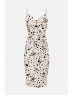 Elisabetta Franchi jurk met microsterrenprint - altamoda - AB14901E2