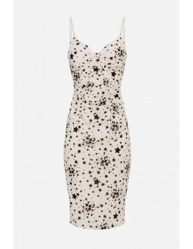 Elisabetta Franchi dress with micro star print - altamoda - AB14901E2