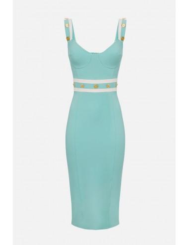 Elisabetta Franchi shift dress with contrast inserts - altamoda - AB18301E2