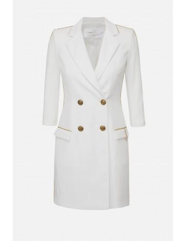Vestido Elisabetta Franchi de doble pecho con solapas - altamoda - AB21601E2