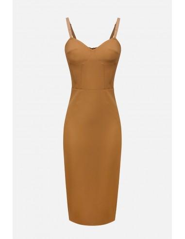 Elisabetta Franchi sheath dress in crepe - altamoda - AB22901E2