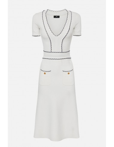 Elisabetta Franchi knitted dress with anchor embroideries - altamoda - AM86B01E2