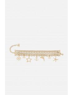 Bracelet Elisabetta Franchi avec pendentifs à breloques - altamoda - BC02A01E2
