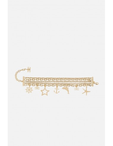 Elisabetta Franchi bracelet with charm pendants - altamoda - BC02A01E2