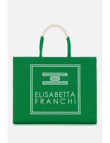 Elisabetta Franchi Big shopper from canvas - altamoda.shop - BS01A01E2