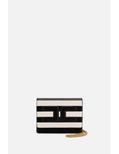 Elisabetta Franchi striped shoulder bag - altamoda.shop - BS21A01E2