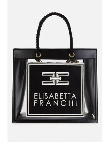 Elisabetta Franchi large bag with PVC inserts - altamoda.shop - BS29A01E2