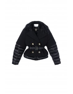 Lined Down Jacket in Black - Elisabetta Franchi