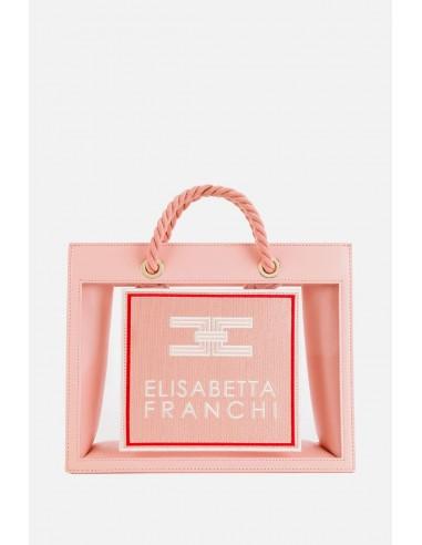 Elisabetta Franchi medium sized bag with PVC inserts - altamoda.shop - BS30A01E2