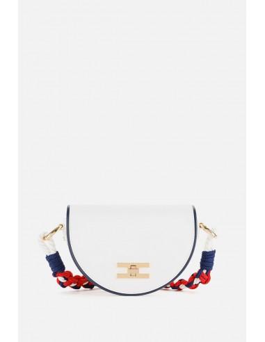 Elisabetta Franchi bag with shoulder strap from ship's rope - altamoda.shop - BS42A01E2