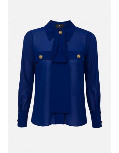Elisabetta Franchi shirt blouse with scarf - altamoda.shop - CA27101E2