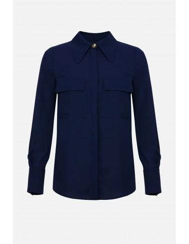 Elisabetta Franchi camisa blusa con bolsillos en el pecho - altamoda.shop - CA27201E2