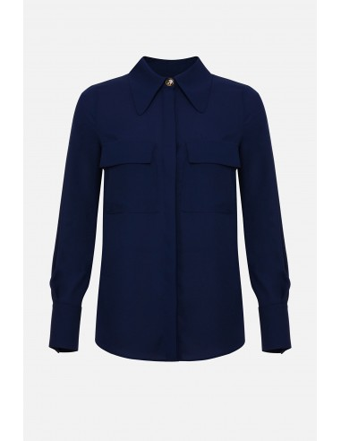 Elisabetta Franchi shirt blouse with breast pockets - altamoda.shop - CA27201E2