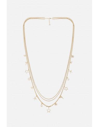 Collar múltiple Elisabetta Franchi con colgantes de encanto - altamoda.shop - CO03A01E2