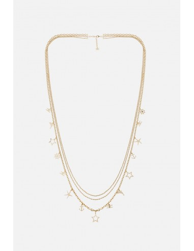 Elisabetta Franchi multiple necklace with charm pendants - altamoda.shop - CO03A01E2