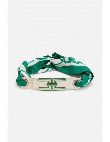 Cinturón Elisabetta Franchi con logo - altamoda.shop - CT03S01E2