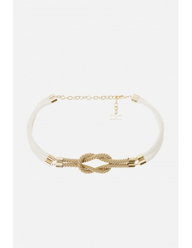 Elisabetta Franchi belt from ship's rope - altamoda.shop - CT12A01E2