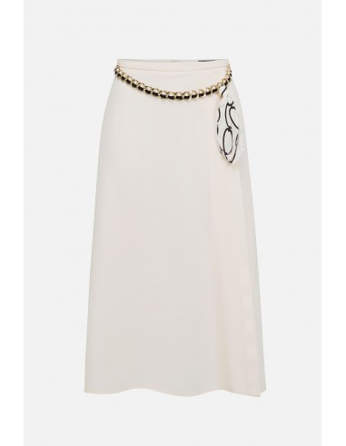 Elisabetta Franchi skirt with chain belt - altamoda.shop - GO35601E2