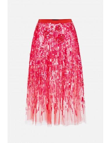 Falda de tul bordado Elisabetta Franchi - altamoda.shop - GR15J01E2
